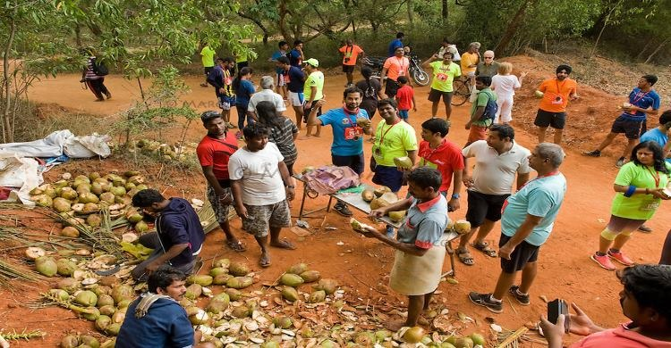 Locals at auroville getting involved