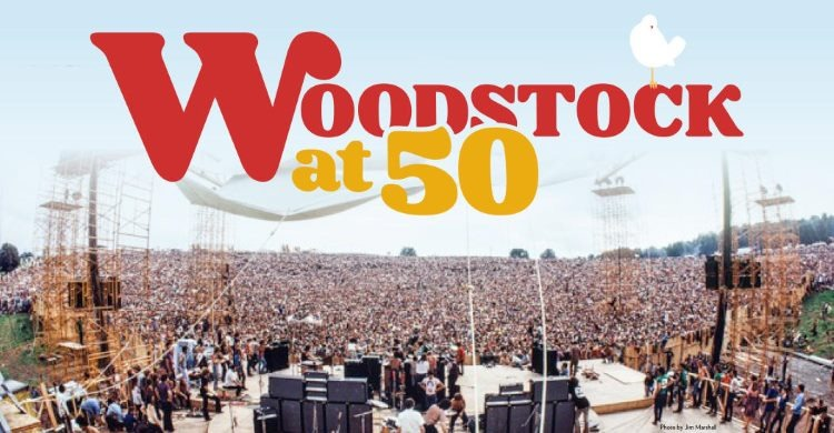 Woodstock 50 advertising for the event