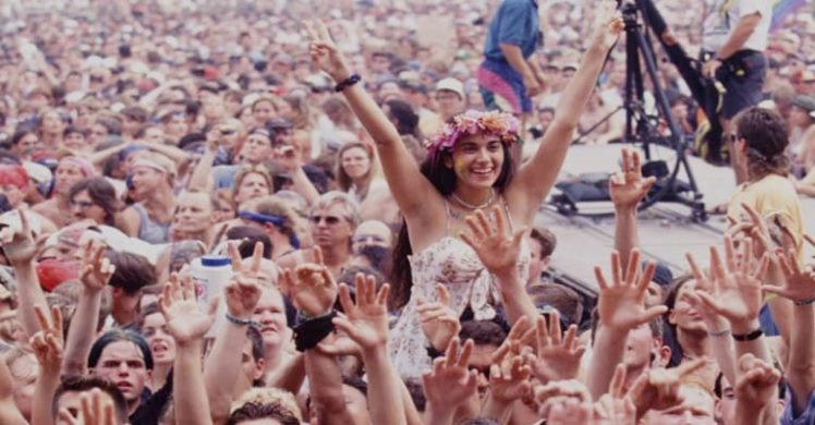 Woodstock 50 crowd go wild