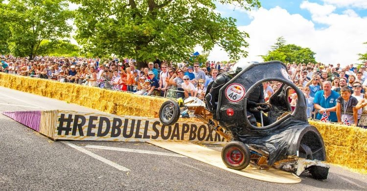 Red Bull Soap Box crash on course