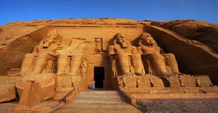 Egyptian ruins during the Abu Simbel Sun Festival