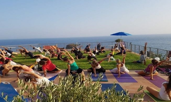 Symi Yoga Retreat class