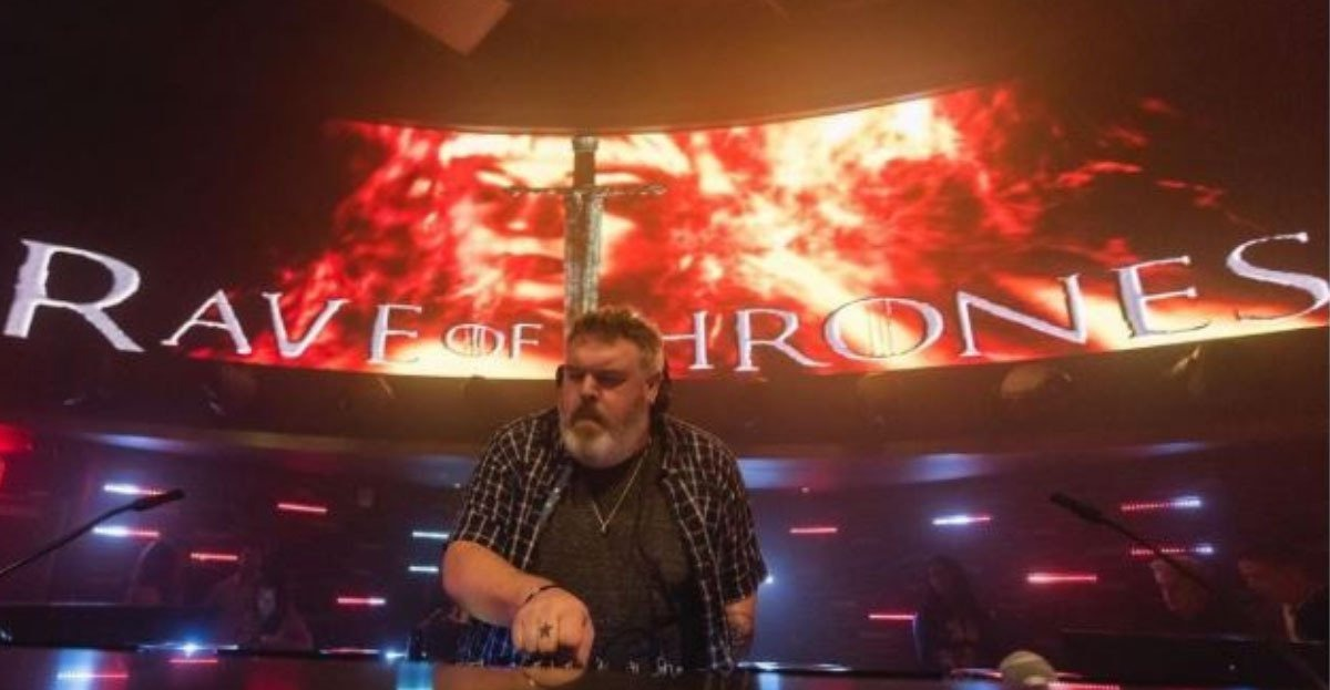 Kristian Nairn Hodor DJ Rave of Thrones