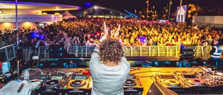 Annie Mac Lost and Found Malta on set DJing
