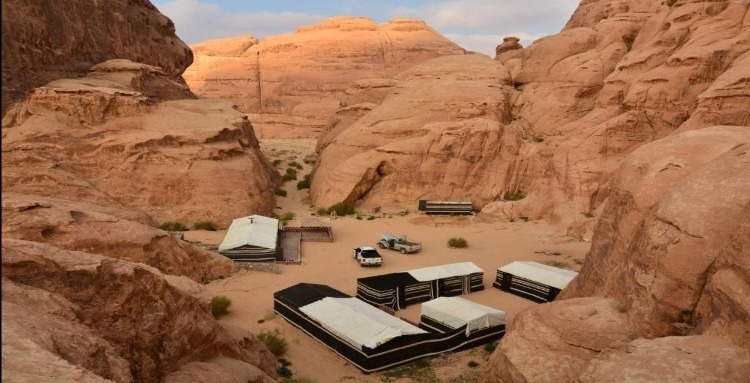bedoin camp near wadi rum