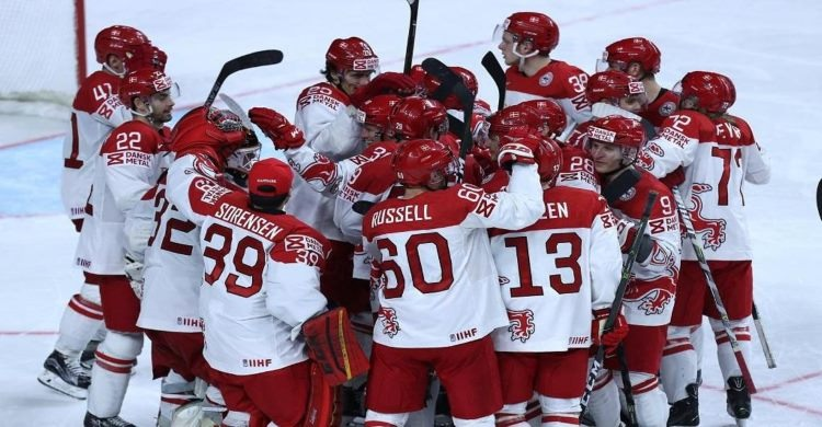 Team celebrations at the Ice Hockey World Championships