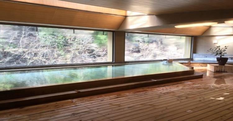 Hot spring fed baths