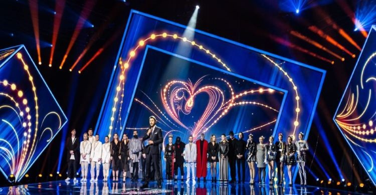 Eurovision stage with singers