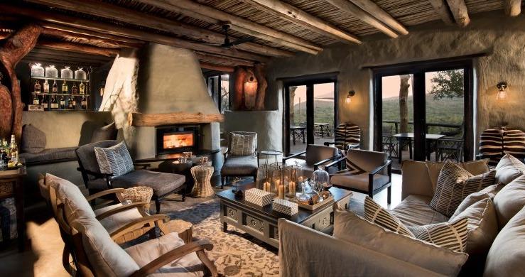 Living room at Phinda Rock Lodge