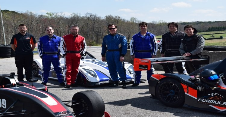 Group event at America's Ultimate Race Car Driving experience
