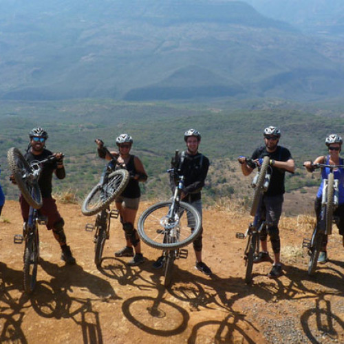 Participants at the Colombia Biking Adventure