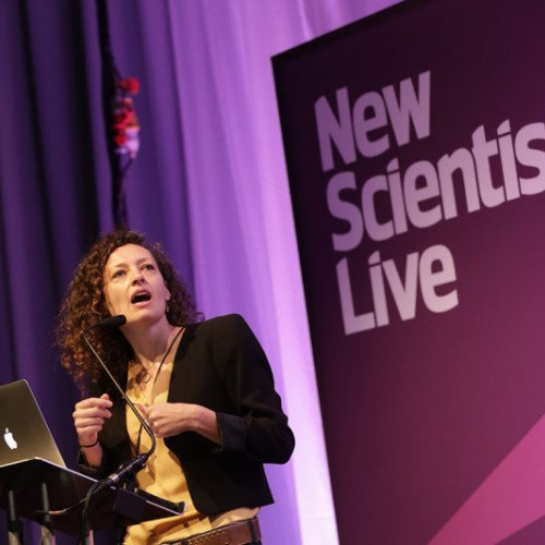 Speaker onstage at New Scientist Live