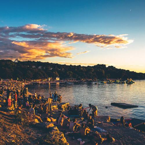 Outlook festival - revellers on the beach - Life of Riley