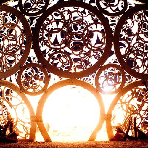 Lights and art at the Afrikaburn festival