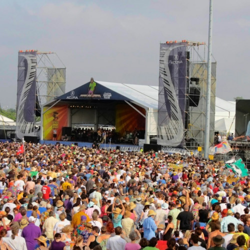 Crowds at New Orleans Jazz Festival