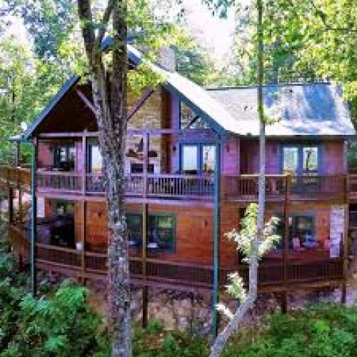 Blue mountain cabin getaway