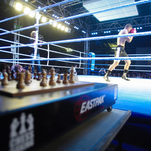 Competitors at Chessboxing, London