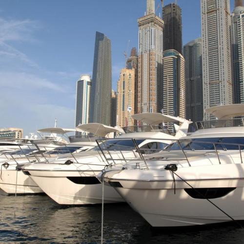 Super Yachts at the Dubai Boat Show