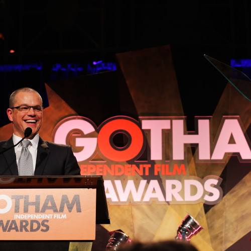 Matt Damon speaks at the Gotham Independent Film Awards