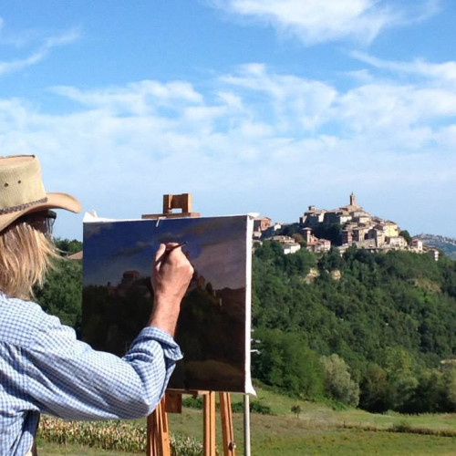 Painting the views at Le Marche Art Retreat in Italy