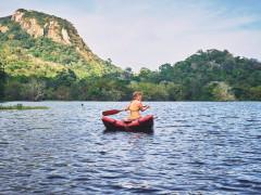 Woman Kayaking on a Luxury Sri Lanka Retreat