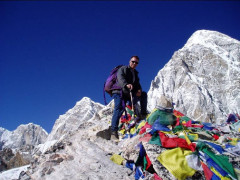 Hiker at Everest Base Camp Trek Nepal