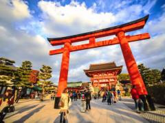 japan kyoto fushimi inari taisha shrine from below Spirits of Japan Tour