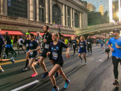 Participants in the New York City Marathon