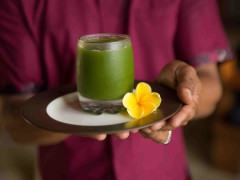 welcome drink on a Signature Detox Retreat in Bali