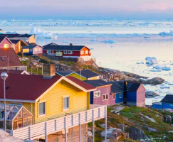Overlooking Houses on an Iceland & Greenland Photography Tour