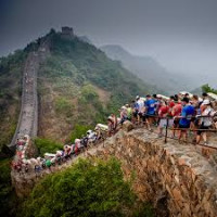 Runners racing at the Great Wall Marathon