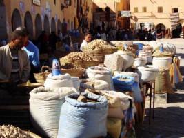 Men Selling Grain Discover Algerian Culture