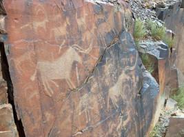 Ancient cave paintings in Kazakhstan