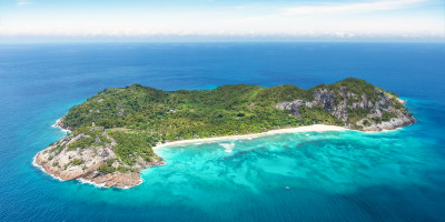 North Island, Seychelles Ariel Shot