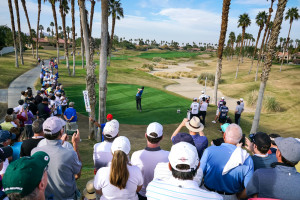 Golfer Teeing off at the Careerbuilder Challenge (Formerly Bob Hope Classic)