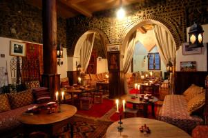 Berber decorated interior room of Kasbah Mountain Refuge