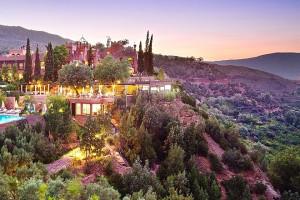 sunset views of Kasbah Mountain Refuge