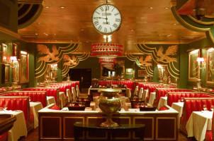glamorous decor inside Russian Tea Rooms
