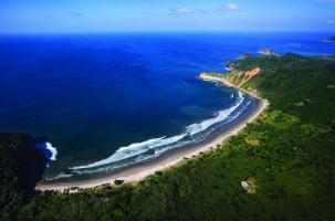 Aerial view of beach and at Mukul Resort, Nicaragua