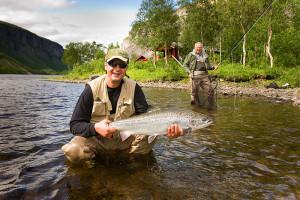 Salmon fishing in Norway
