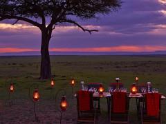 Outdoor dining at Olare Mara Kempinski Masai Mara