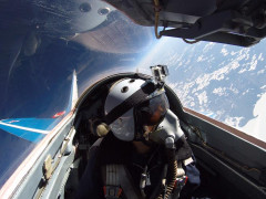 Fly in a Fighter Jet Edge of Space Photo