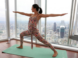 Yoga at the top of The Shard, London