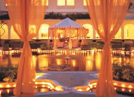 Taj Lake Palace root exteriors gardens