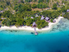 Ratua Private Island sand beach sea