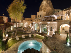 Outdoor Area at Night Anatolian Cave Houses