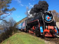 Soviet Era Steam Locomotive on the Trans-Siberian Railway