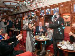 Travellers Celebrating on the Trans-Siberian Railway